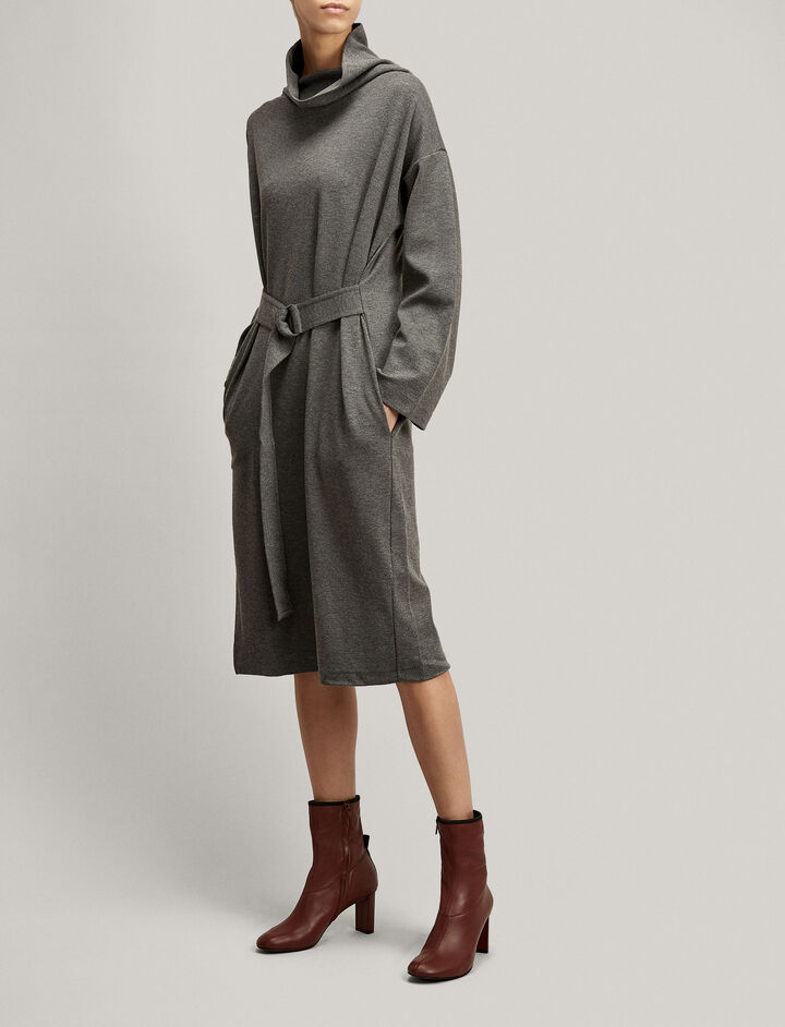 Joseph, Naomi Wool Jersey Dress, in GRAPHITE