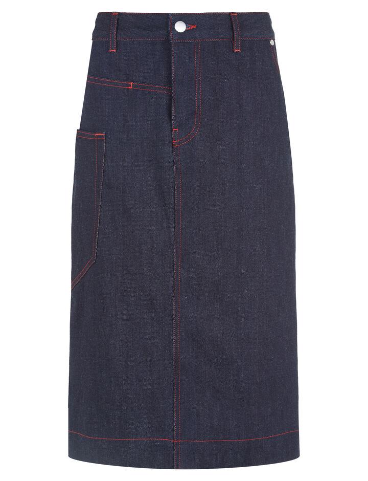 Joseph, Kenneth Denim Stretch Skirt, in PURE INDIGO