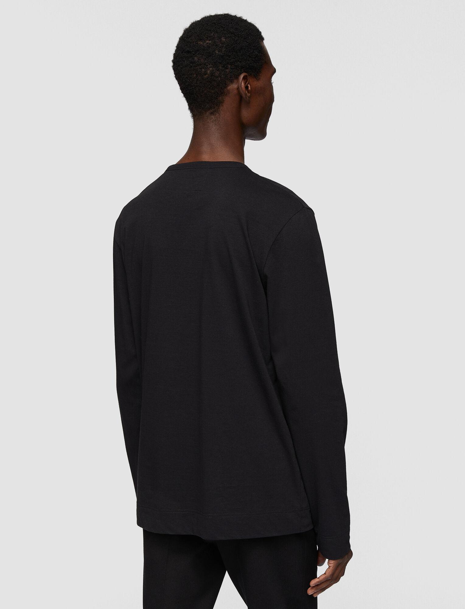 Joseph, Mercerized Jersey Top, in BLACK
