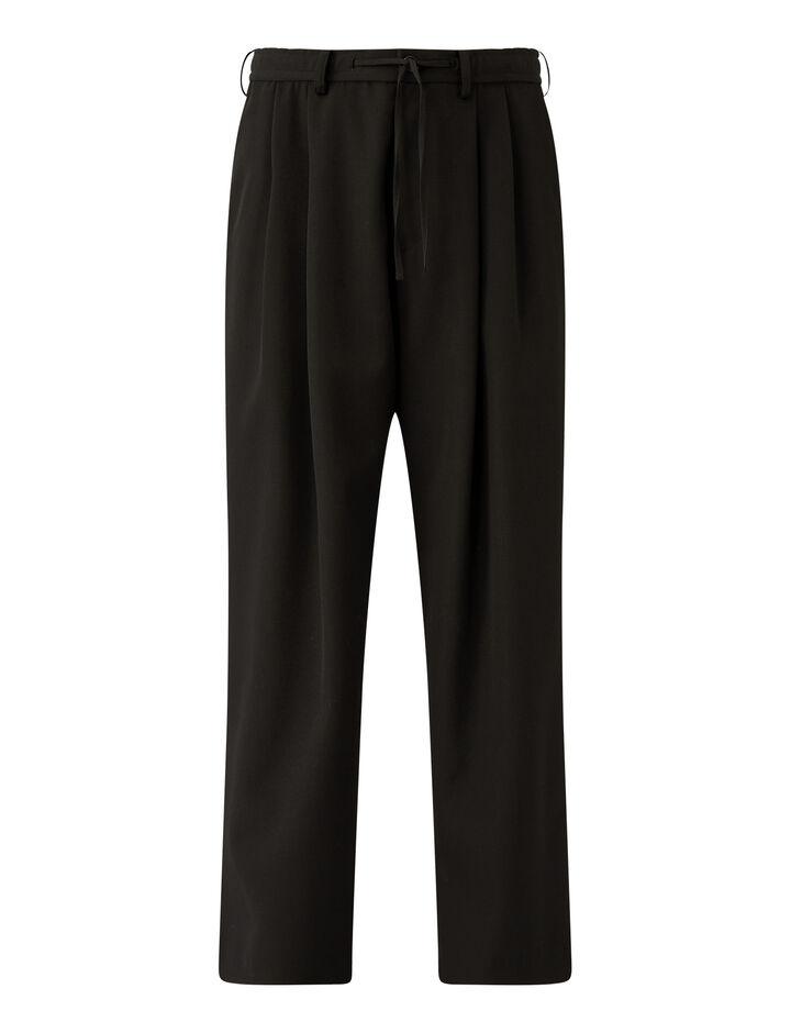 Joseph, Impregnate Wool Trousers Trousers, in Black