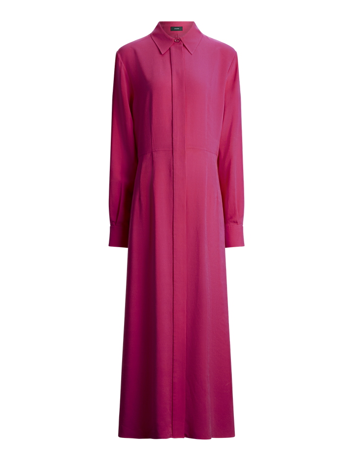 Joseph, Turner Silk Rib Shirting Dress, in CORUNDUM