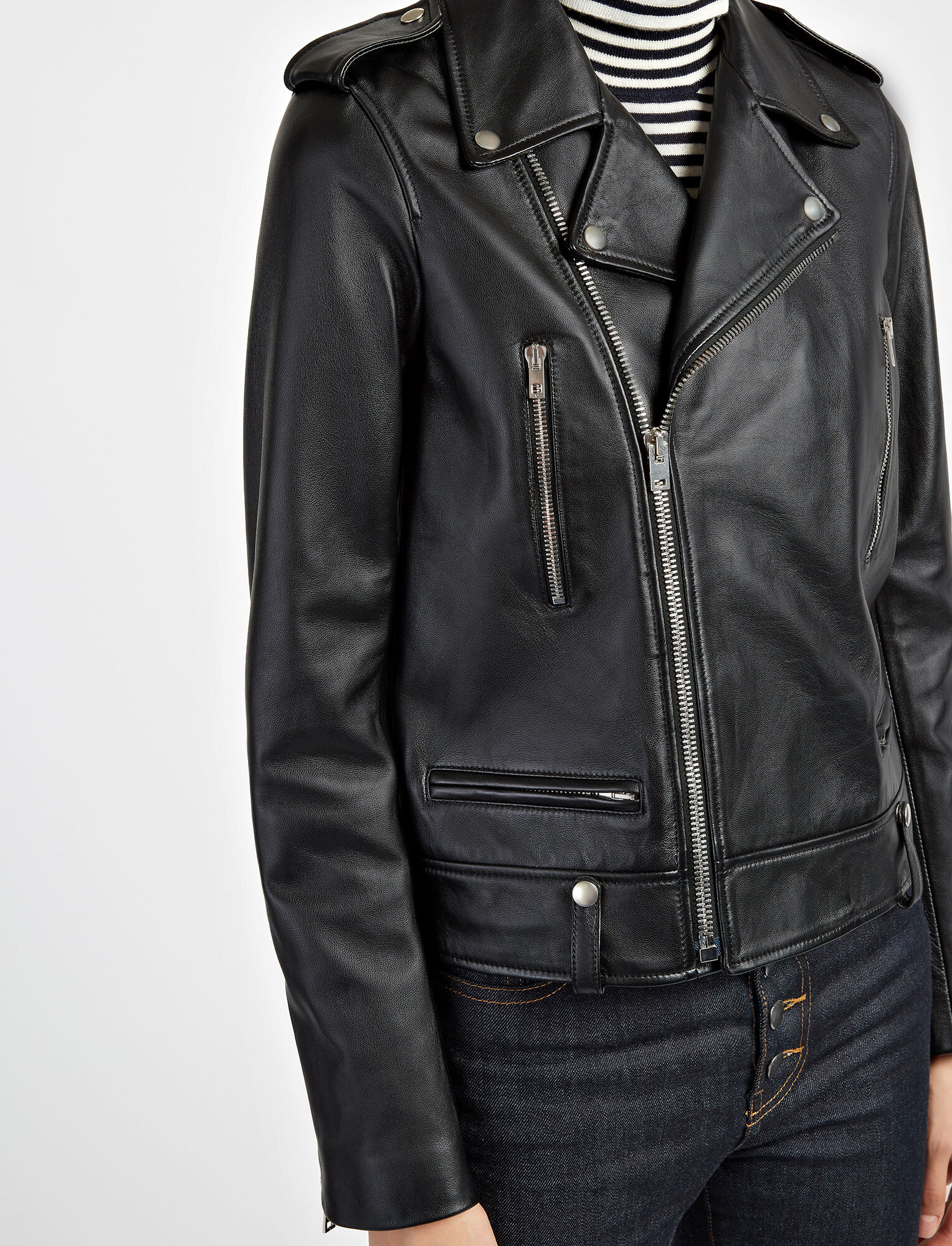 Joseph, Biker Leather Ryder Jacket, in BLACK