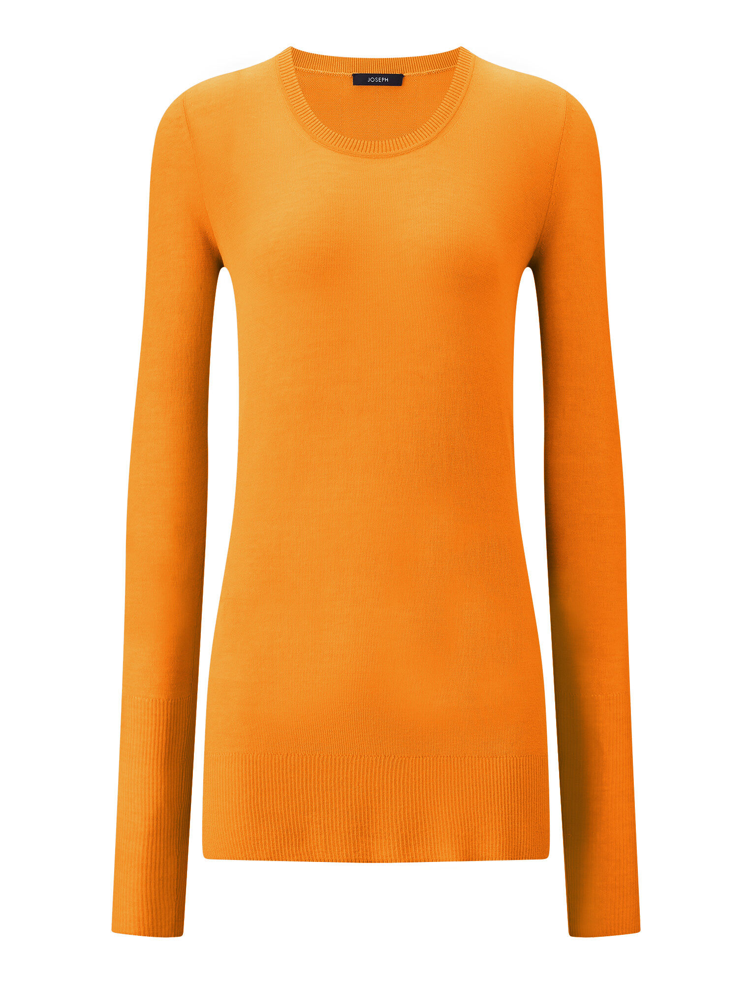 Joseph, Sheer Cotton Knit, in TANGERINE