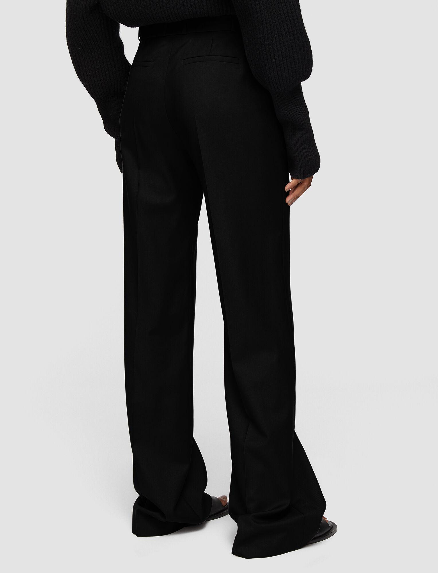 Joseph, Tailoring Wool Morissey Trousers, in BLACK