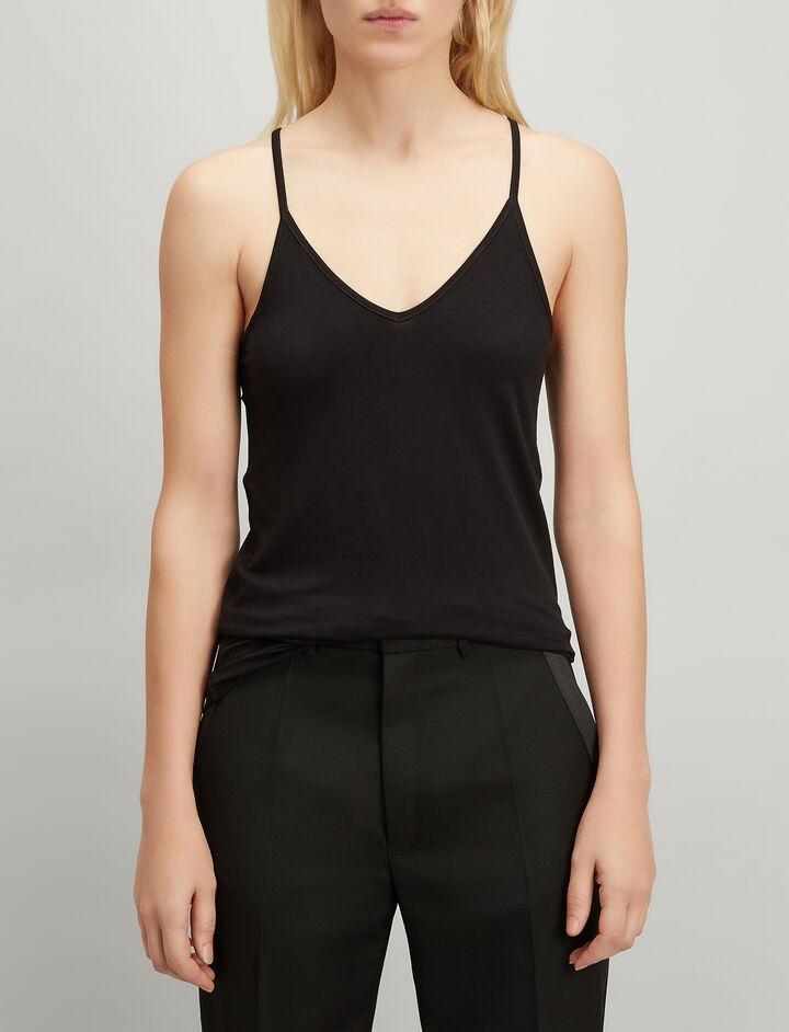 Joseph, Stretch Jersey Camisole, in BLACK