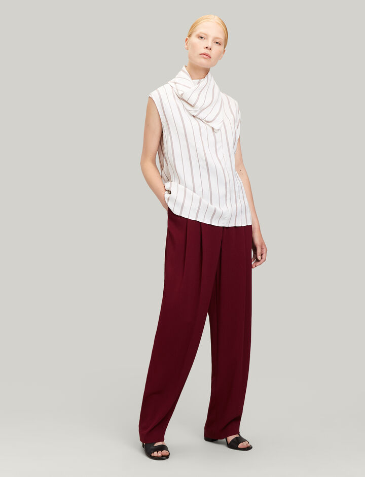 Joseph, Linn Viscose Cady Trousers, in RUBY