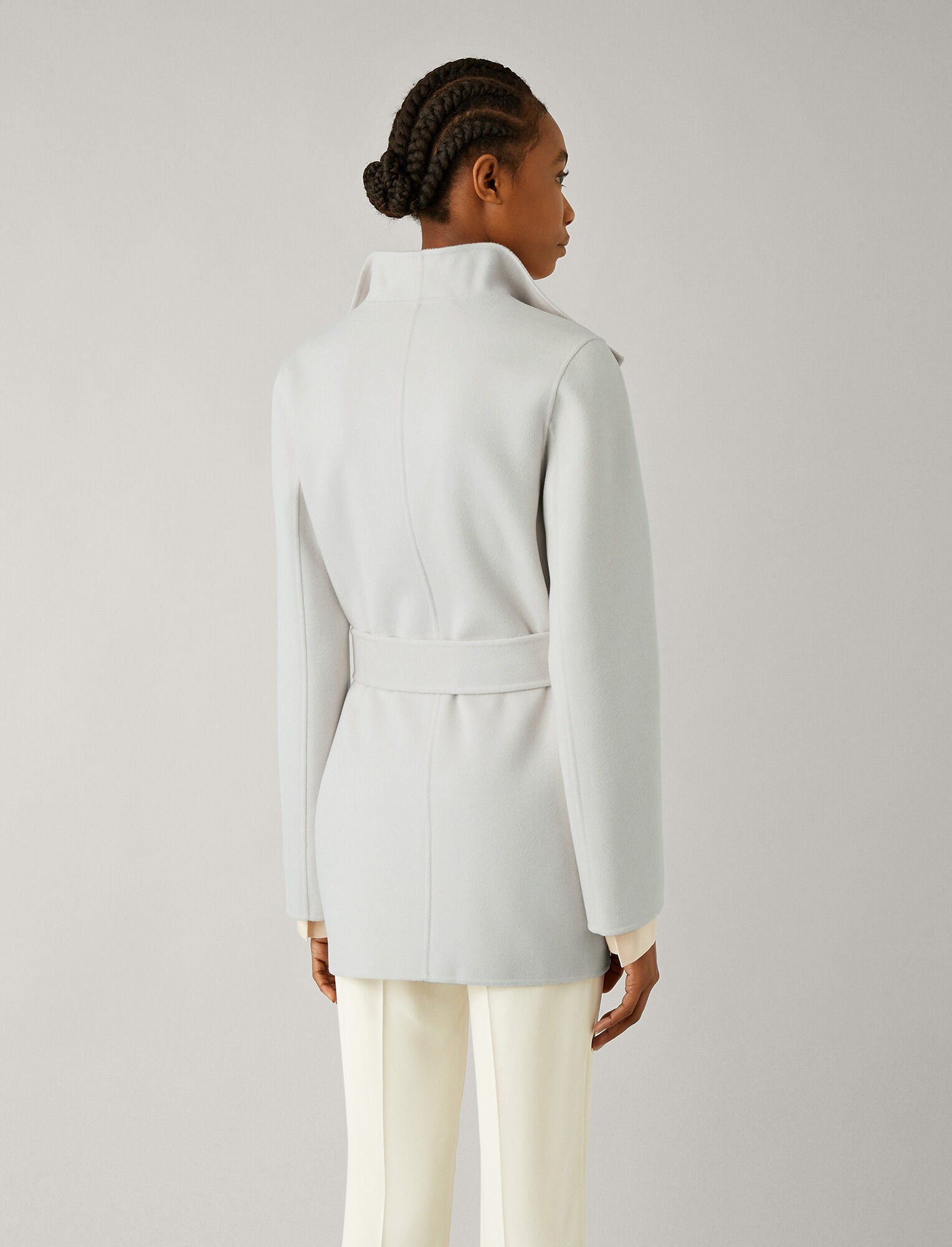 Joseph, Lima Short Double Face Cashmere Coat, in PEARL