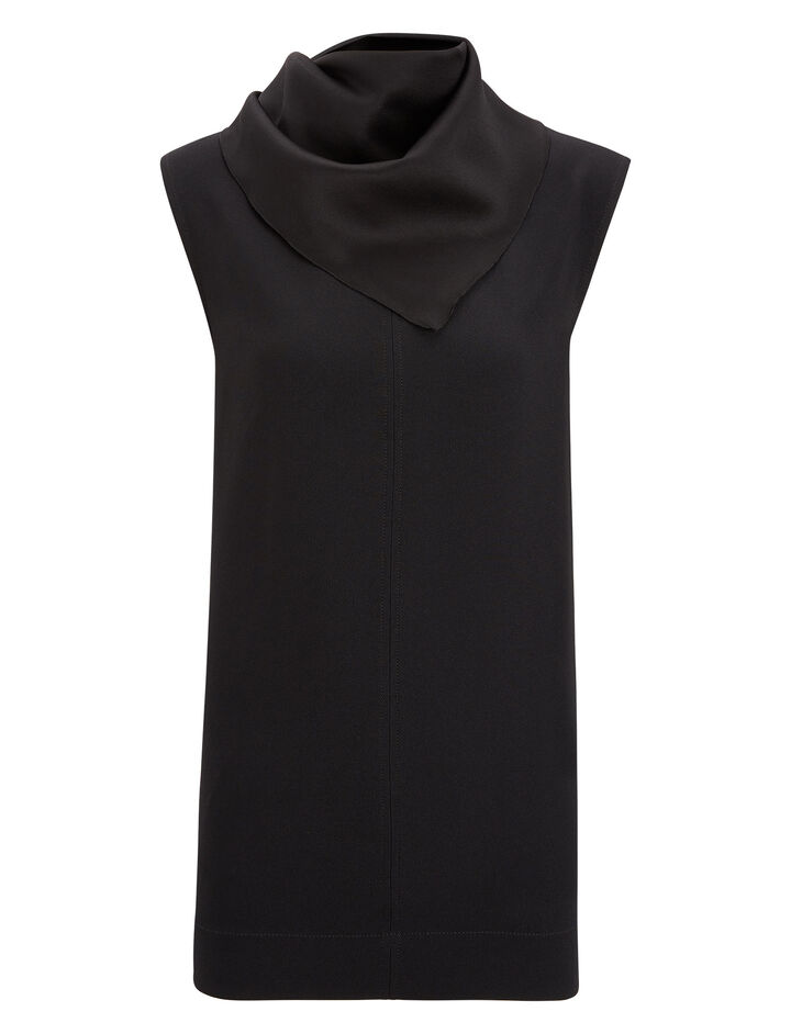 Joseph, Pearce Crepe Satin Blouse, in BLACK