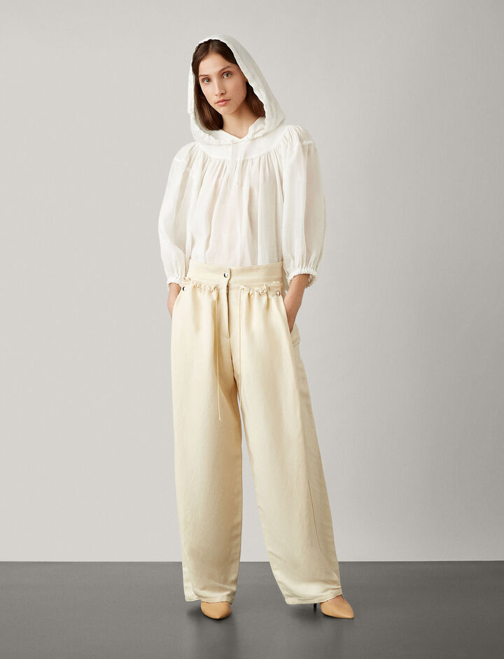 Joseph, Tenly Ramie Voile New Blouse, in WHITE