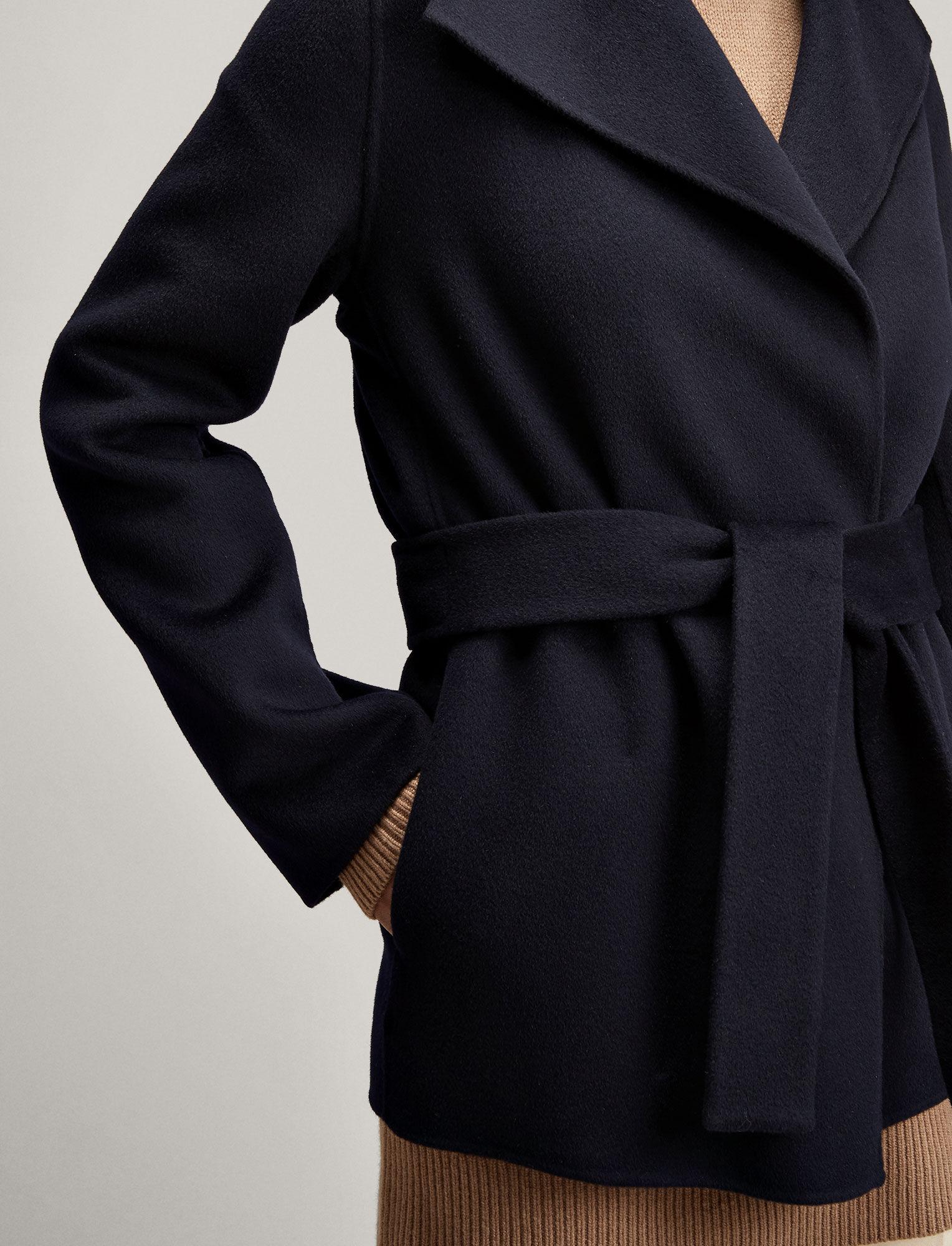 Joseph, Double Face Cashmere Lima Short Coat, in NAVY