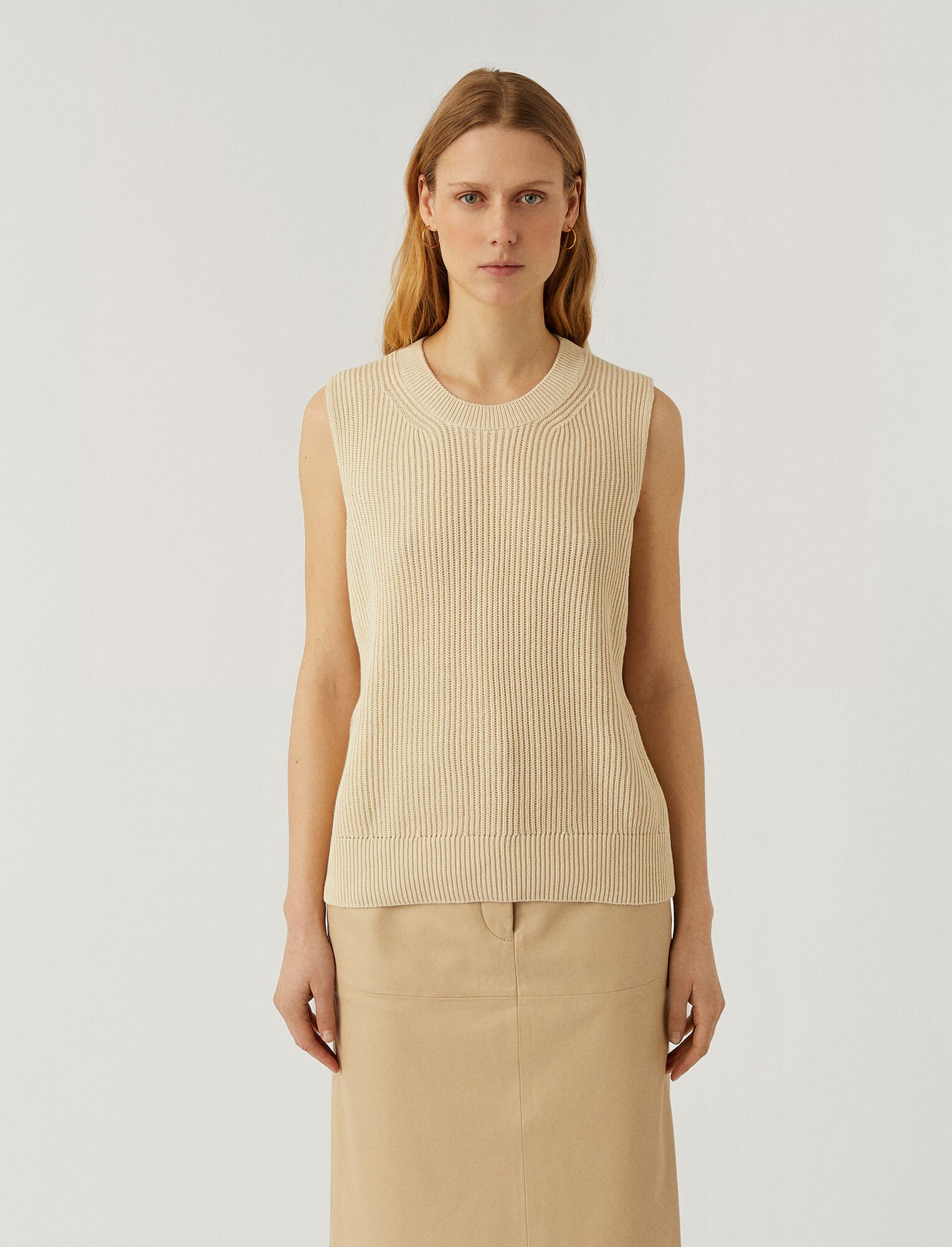 Joseph, Egyptian Cotton Tank Top, in IVORY