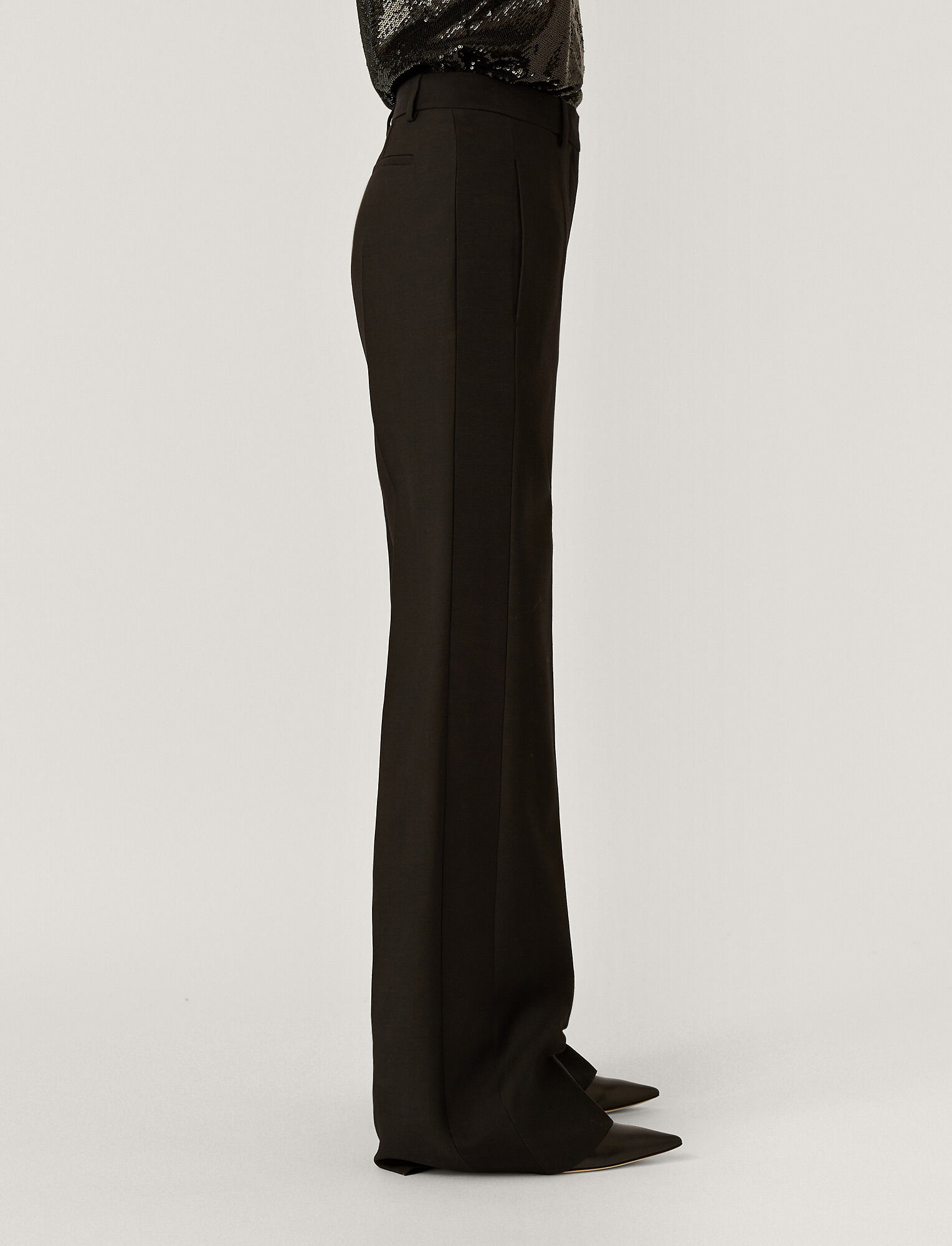 Joseph, Wool Silk Tux Morissey Trousers, in BLACK