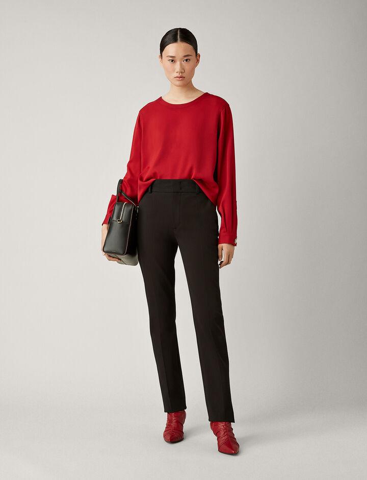 Joseph, Yuli Cotton Bi-Stretch Trousers, in BLACK