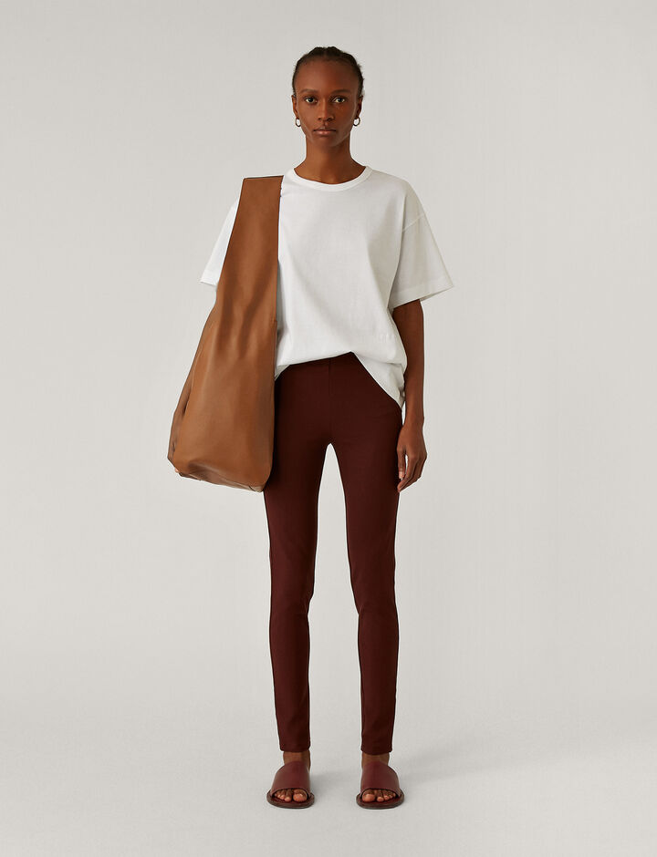 Joseph, Legging Gabardine Str Trousers, in Ganache