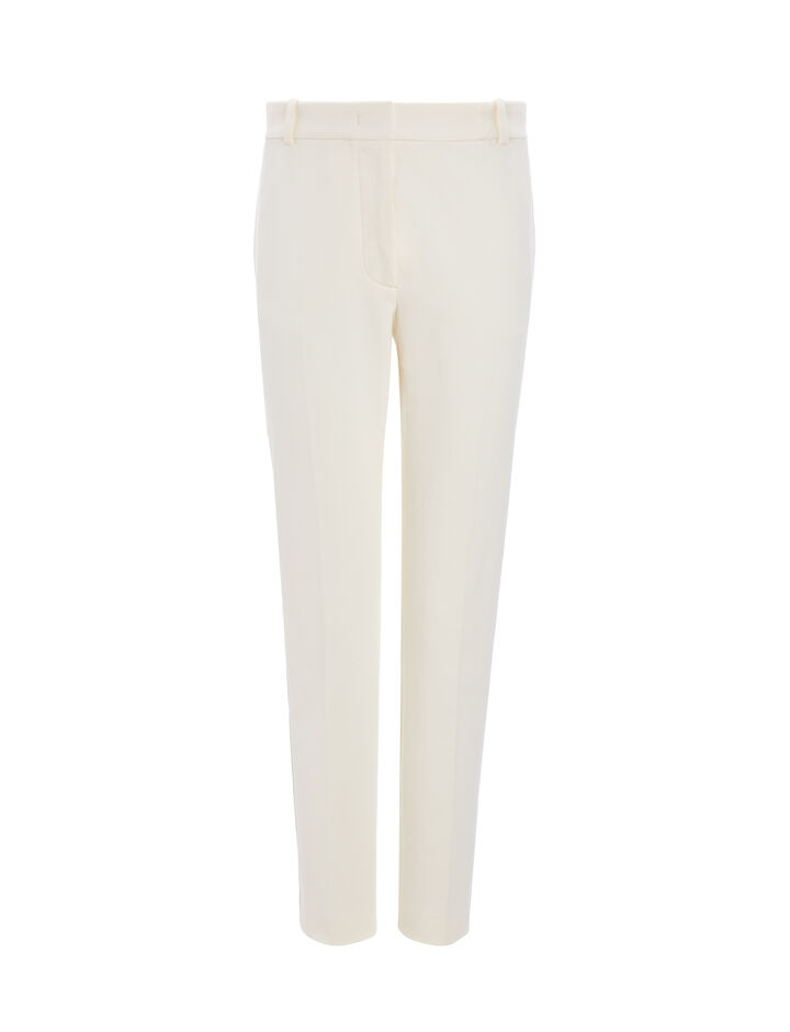 Joseph, Gabardine Stretch Zoom Trousers, in ECRU