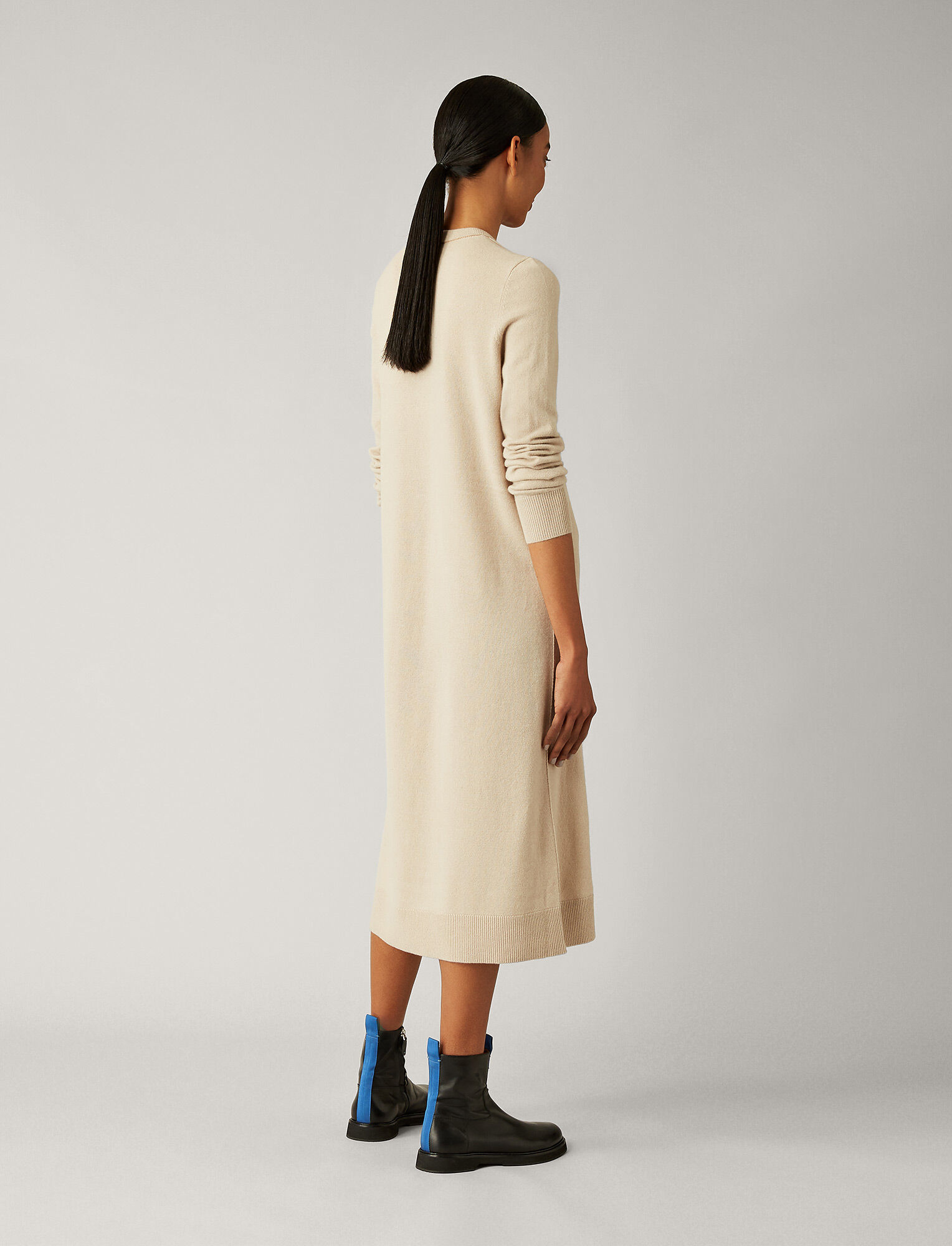 Joseph, Tina Mongolian Cashmere Dress, in FAWN