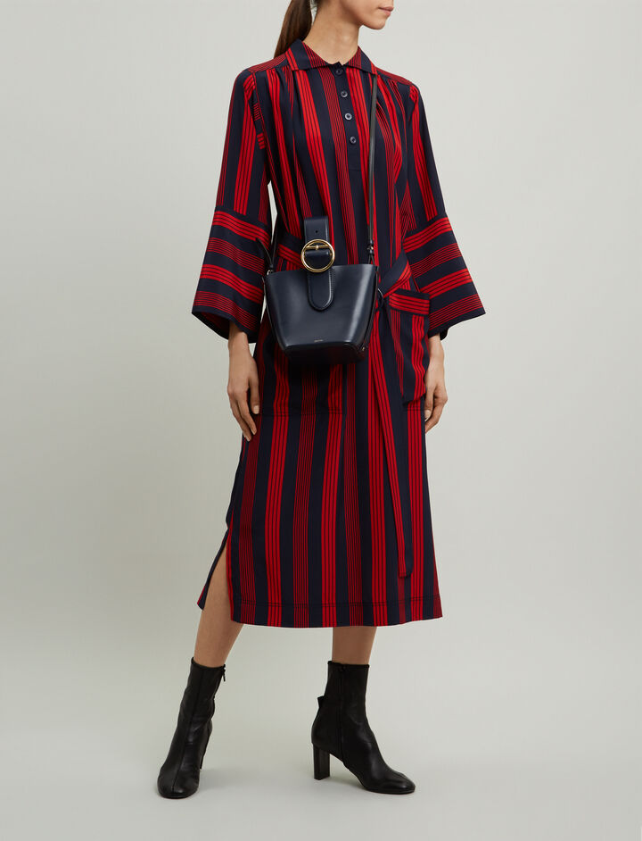 Joseph, Chester Military Stripe Dress, in NAVY/RED