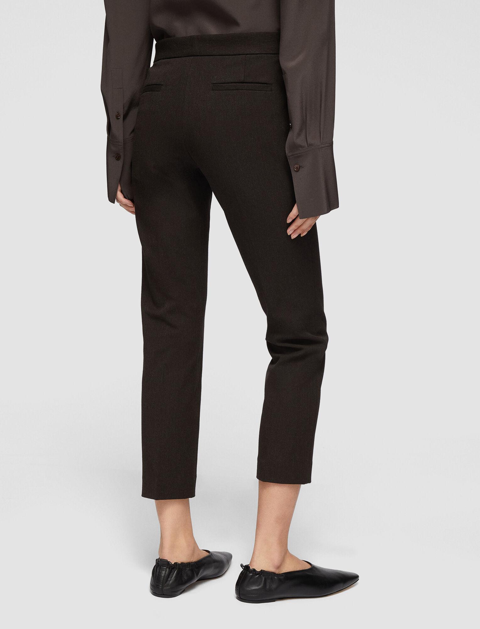 Joseph, Melange Gabardine Stretch Queen Trousers, in JAVA