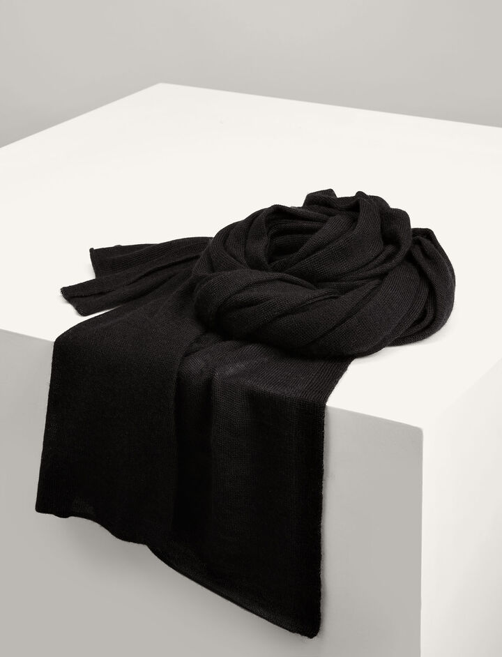 Joseph, Cashair Scarf Tube, in BLACK