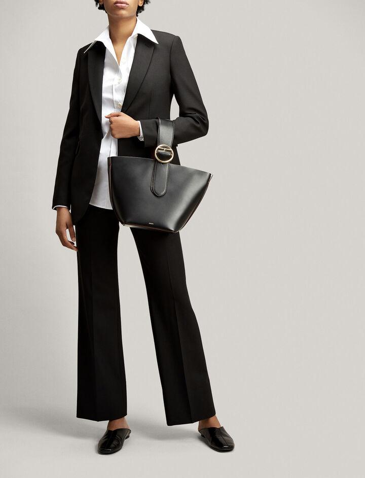 Joseph, Comfort Wool Tropez Trousers, in BLACK