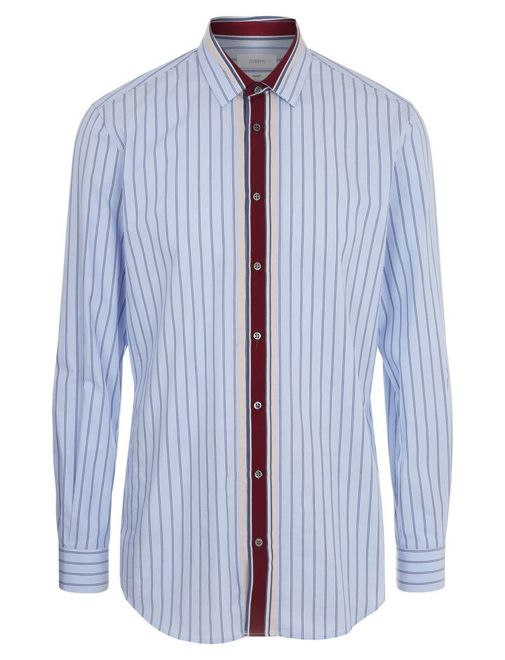 Joseph, Minerv Colour Stripe Shirt, in BLUE