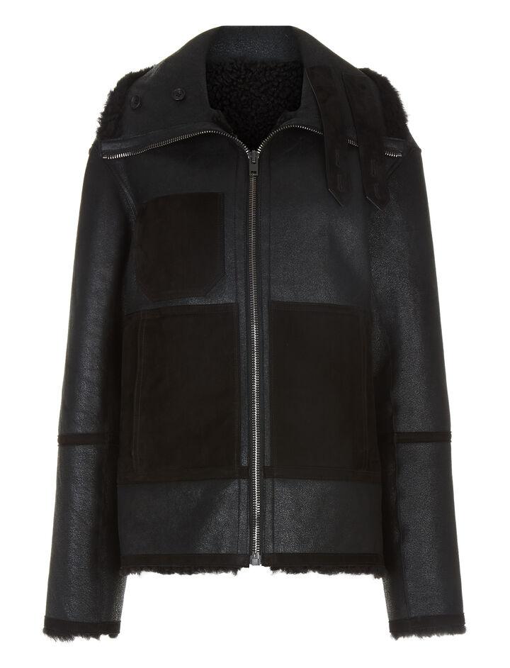Joseph, Detroit Bomber Merinos Jacket, in BLACK