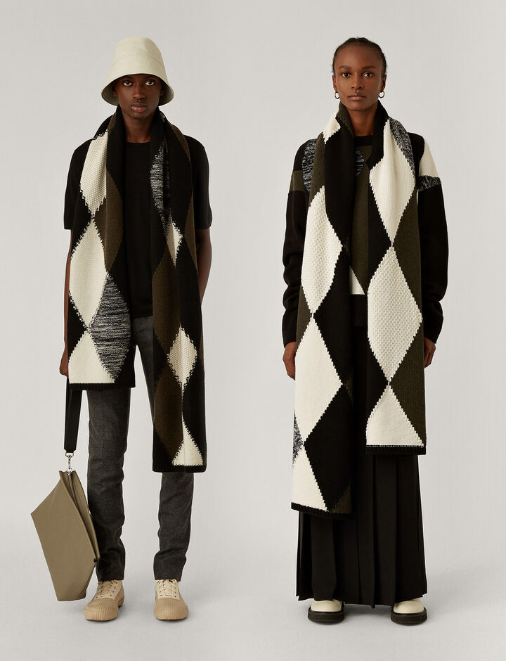 Joseph, Scarf Knitwear, in Black Combo