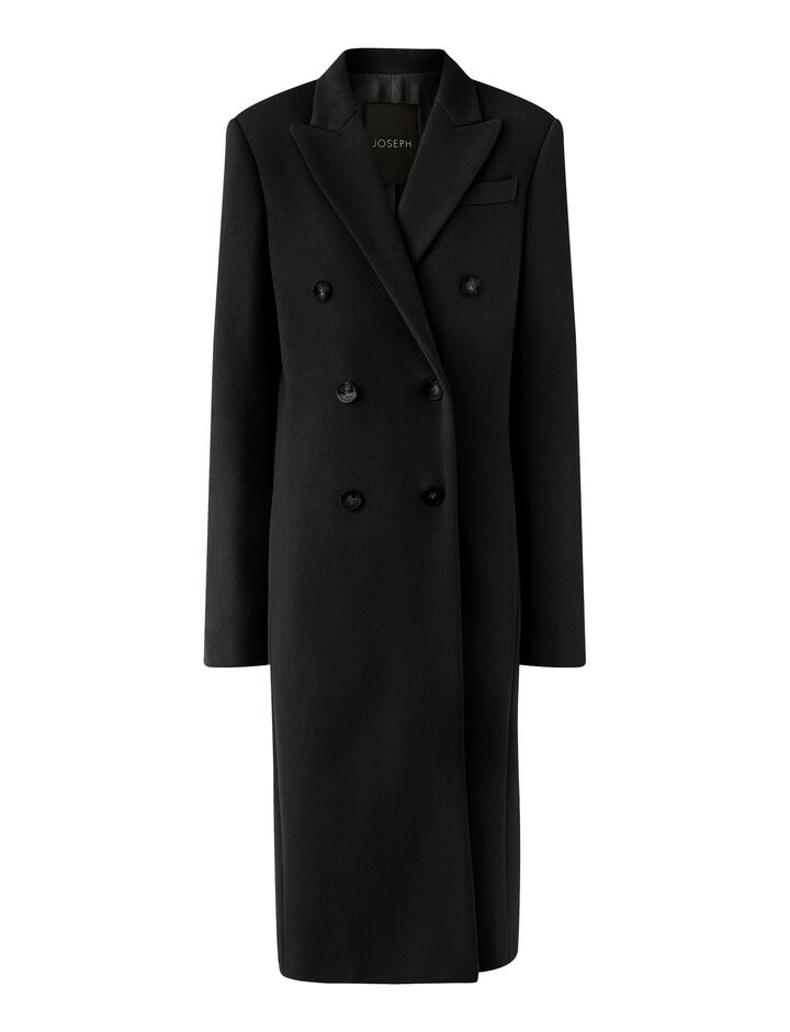 Joseph, Cam Wool Coating Coats, in Black