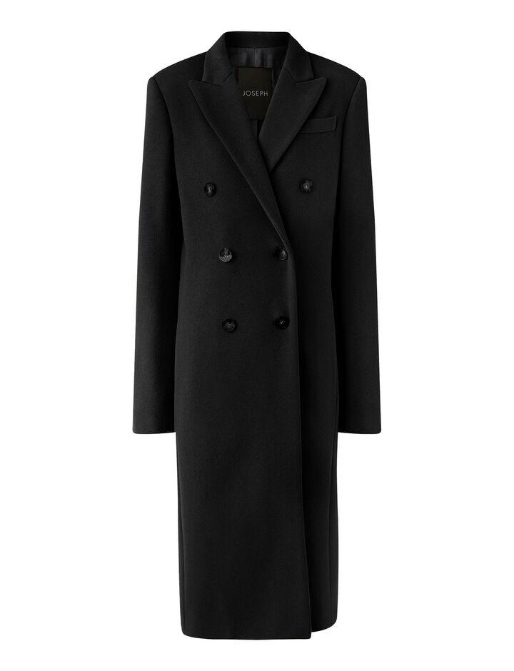Joseph, Cam Wool Coating Coats, in Black