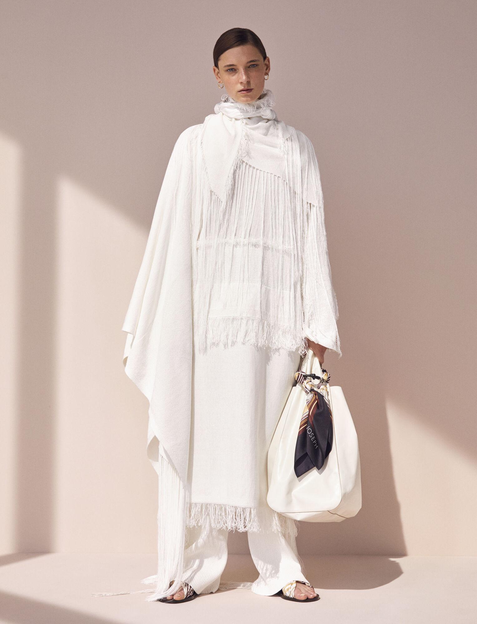 Joseph, Kaftan Crispy Cotton Knit, in WHITE