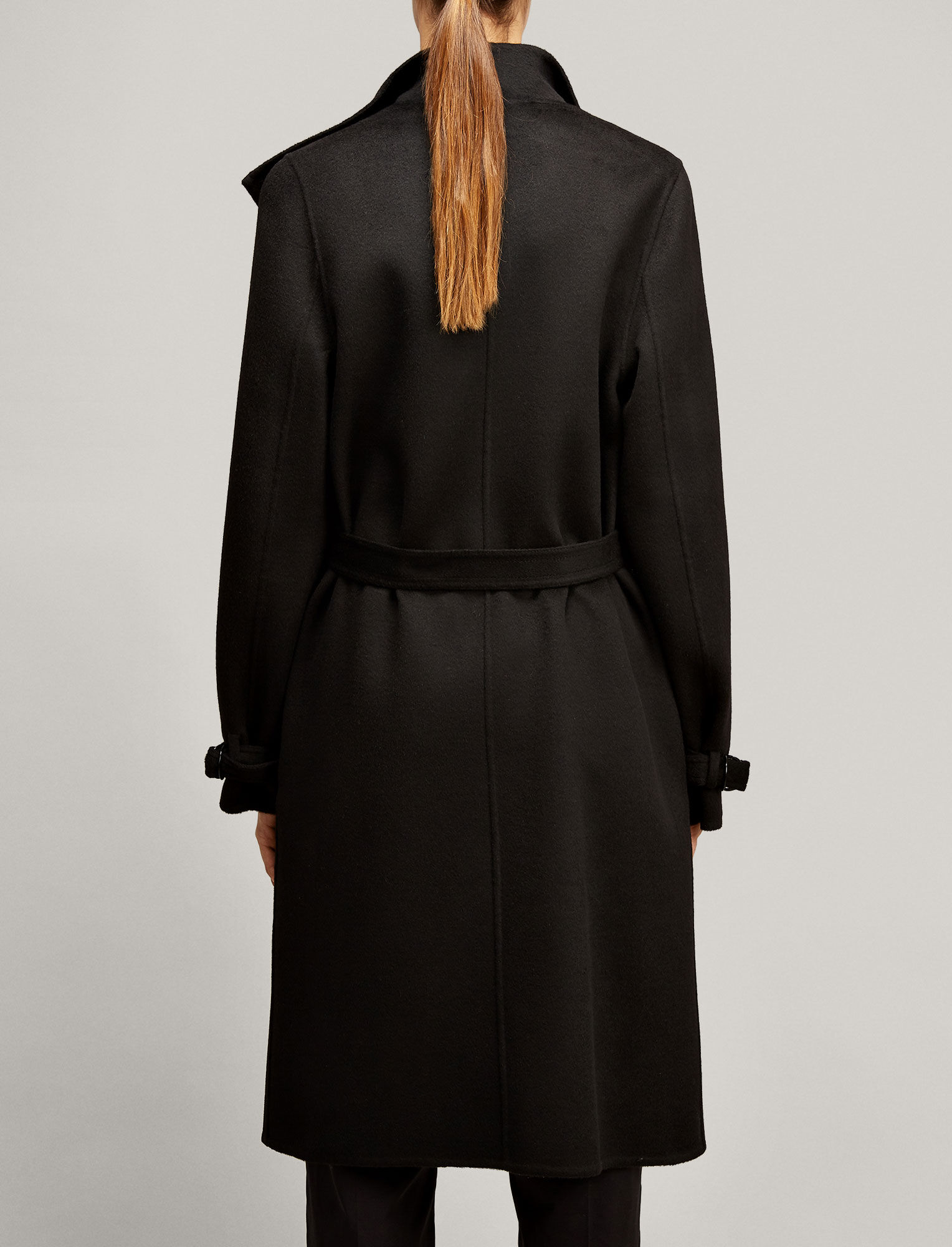 Joseph, New Lima Double Cashmere Coat, in BLACK