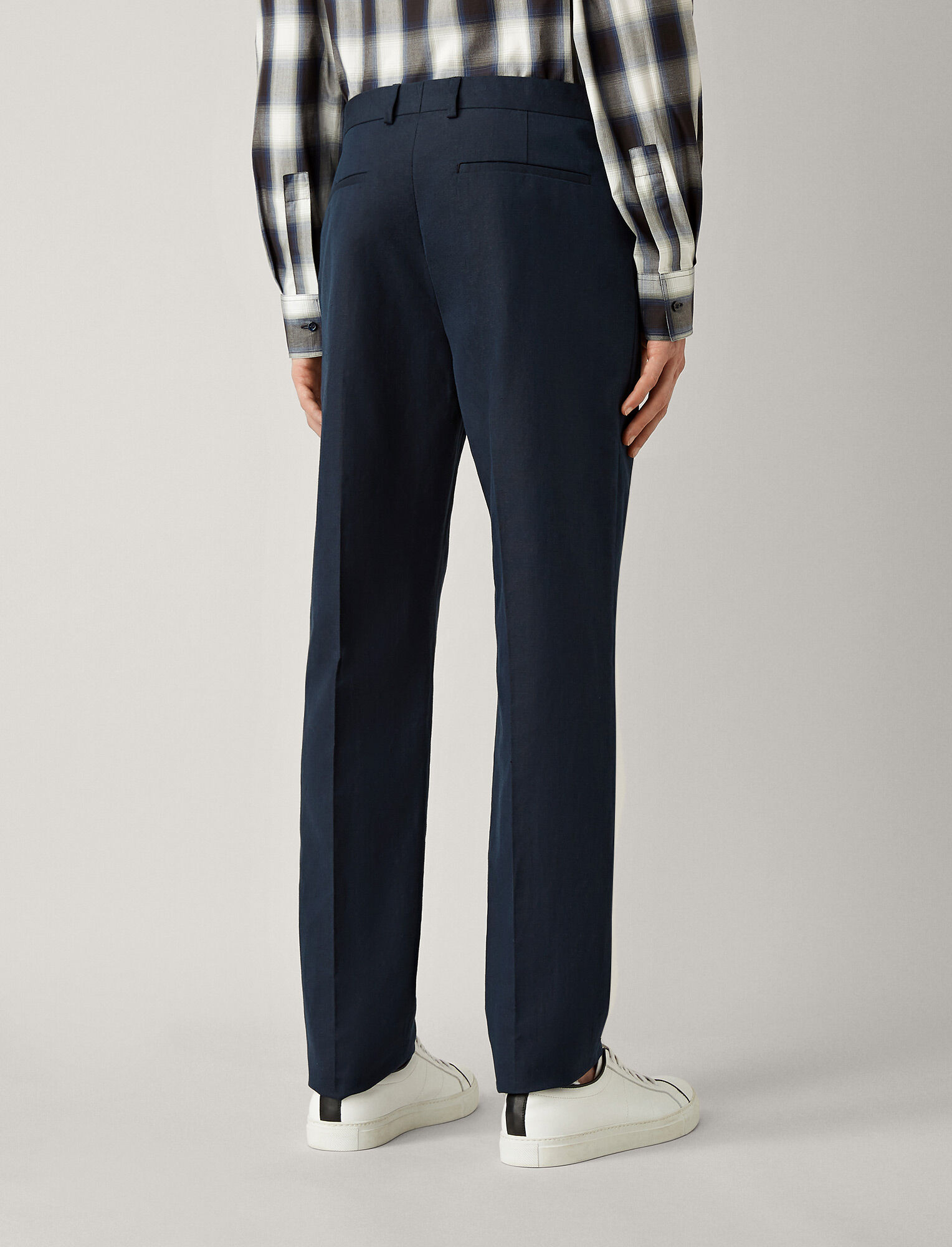 Joseph, Jack Linen Cotton Blend Trousers, in NAVY