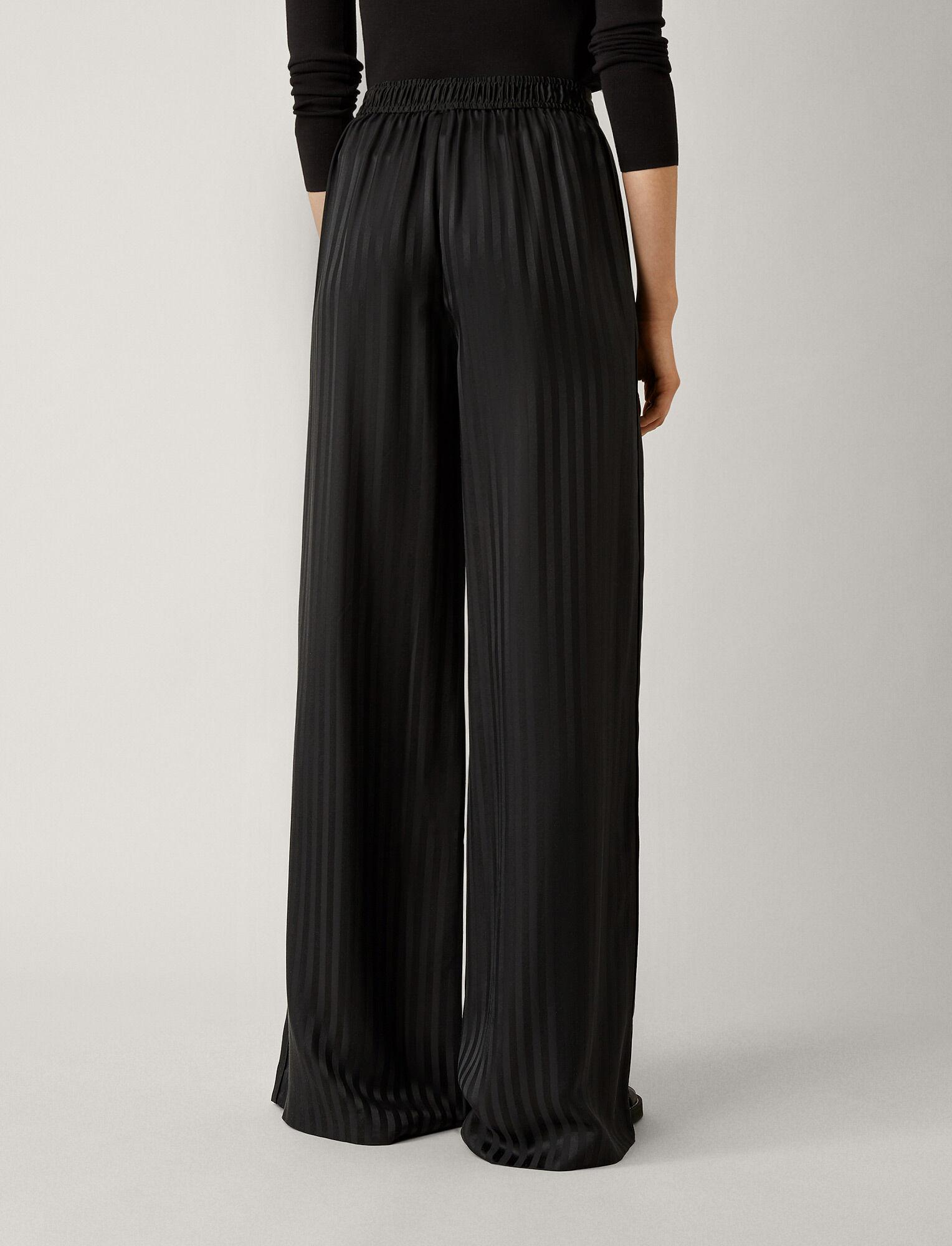 Joseph, Mawn Pyjama Silk Jacquard Trousers, in BLACK