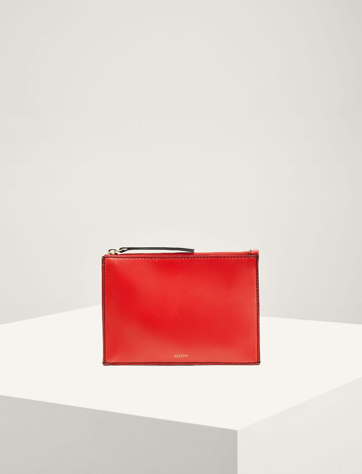 Joseph, Leather Montmartre Bag, in RED