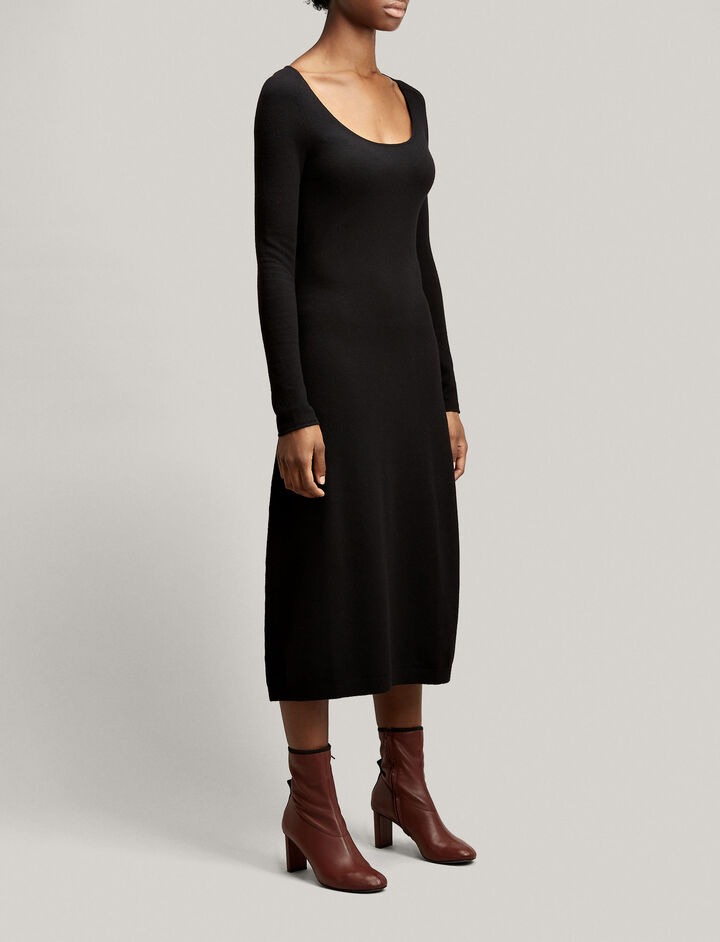 Joseph, Jahan Wool Stretch Dress, in BLACK