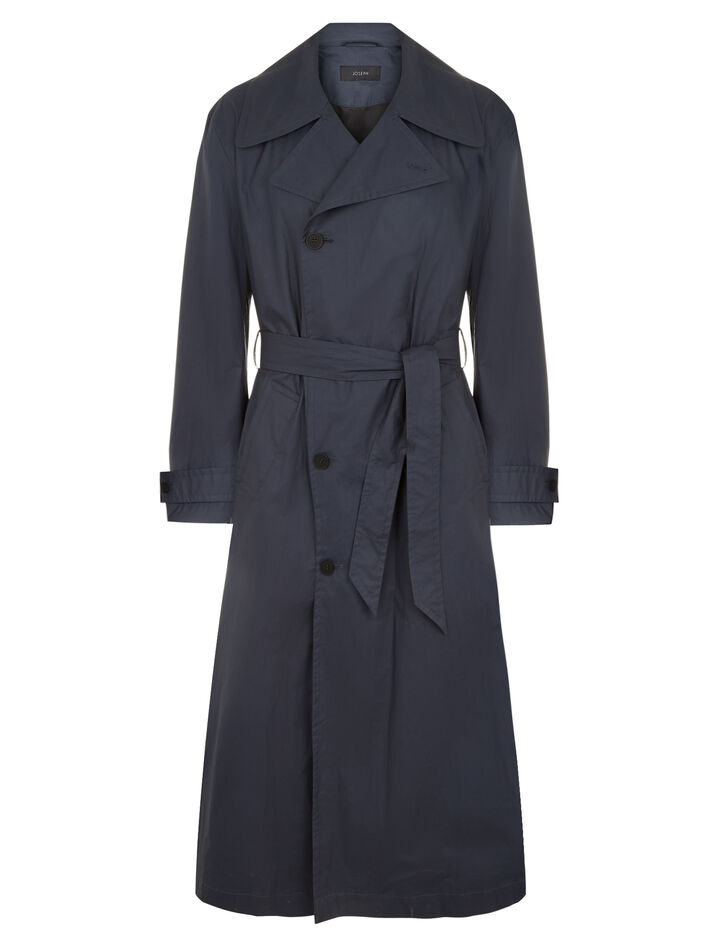 Joseph, Mawes Poplin Coated Coat, in NAVY COMBO