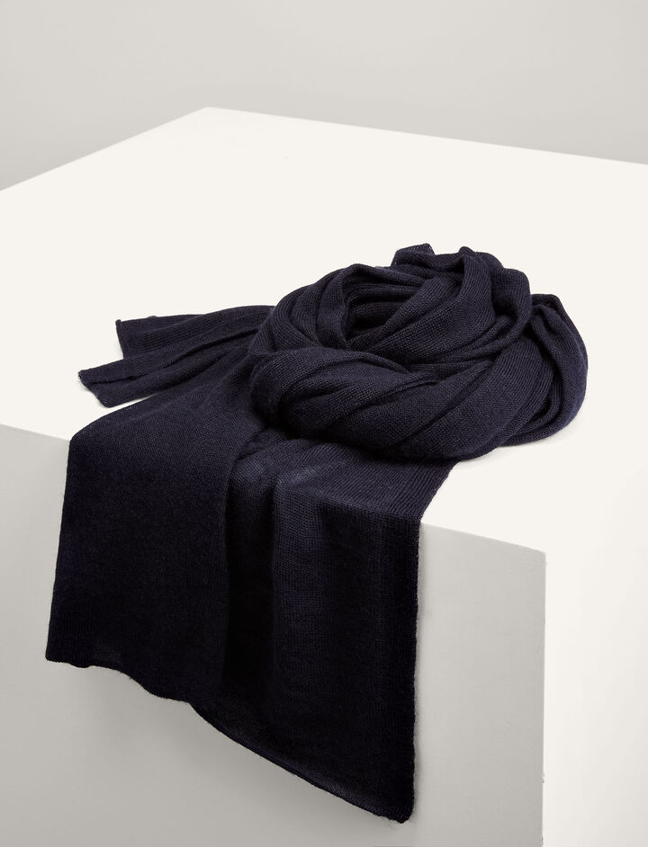 Joseph, Cashair Scarf Tube, in NAVY
