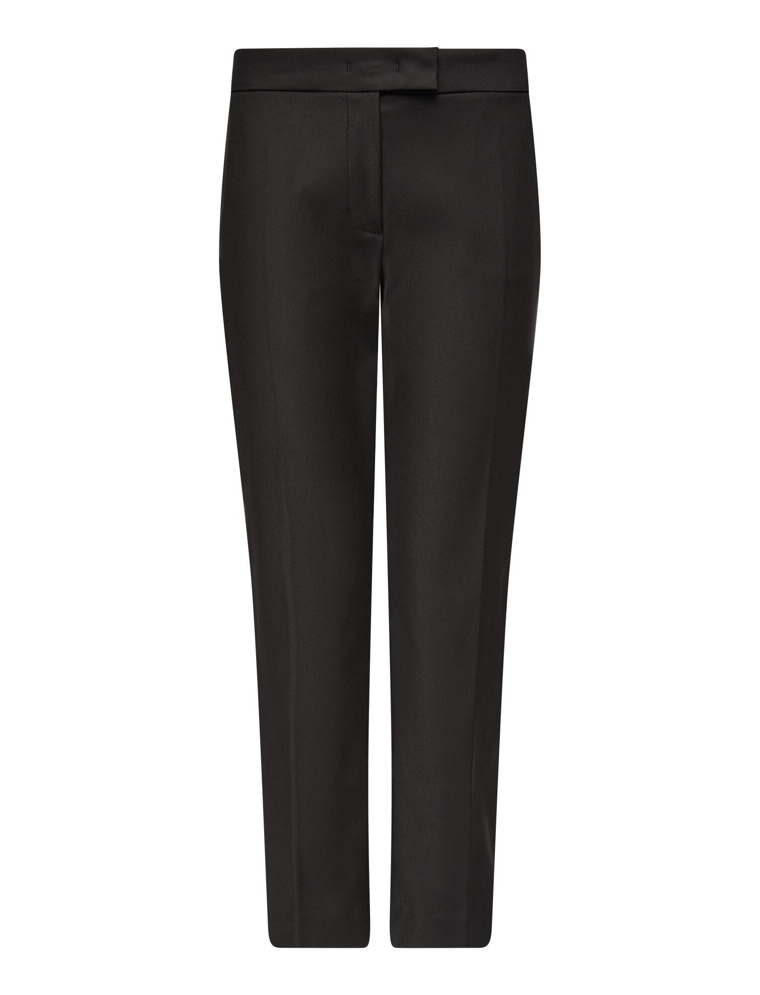 Joseph, Technical Cotton Queen Trousers, in BLACK