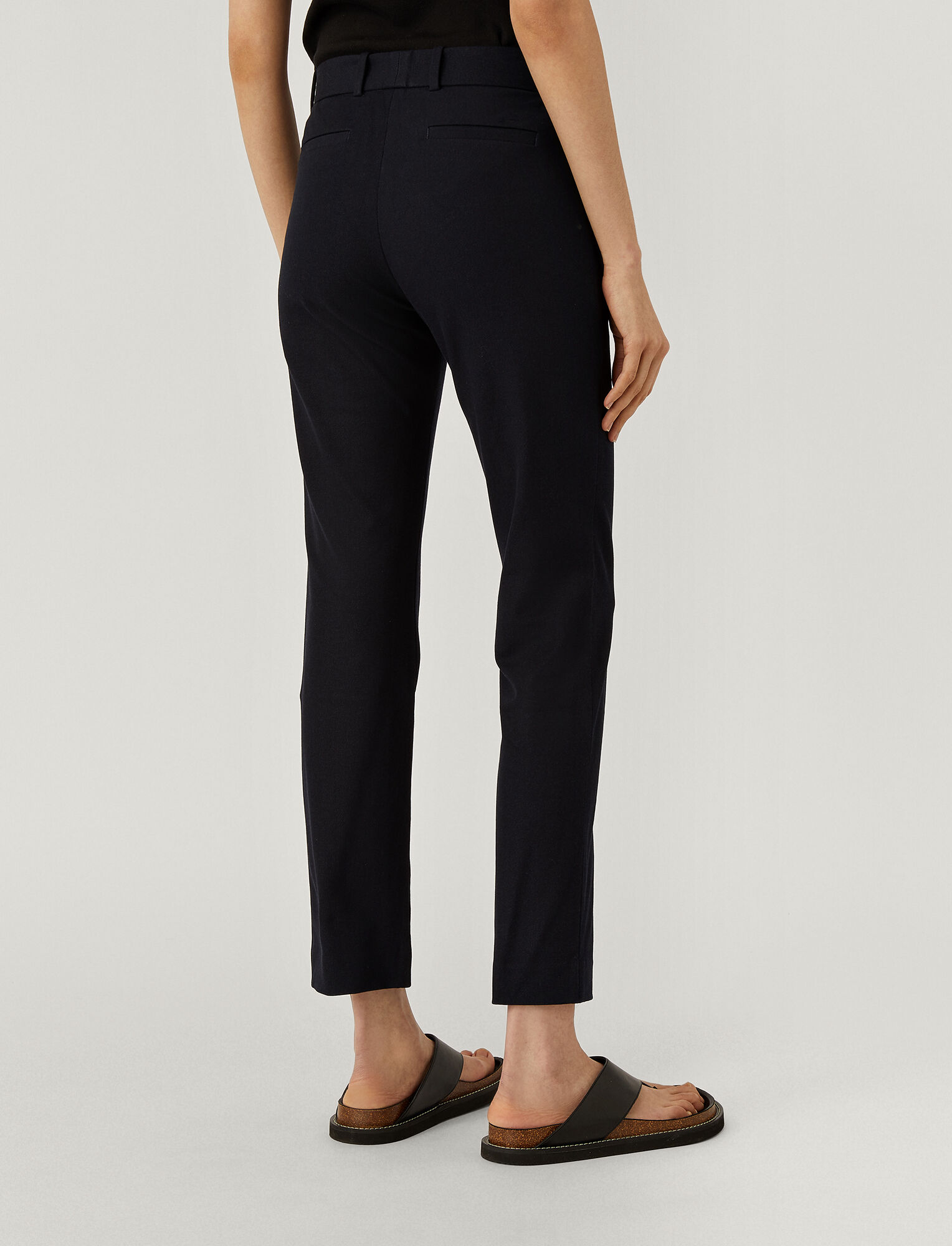 Joseph, New Eliston Gabardine Stretch Trousers, in NAVY