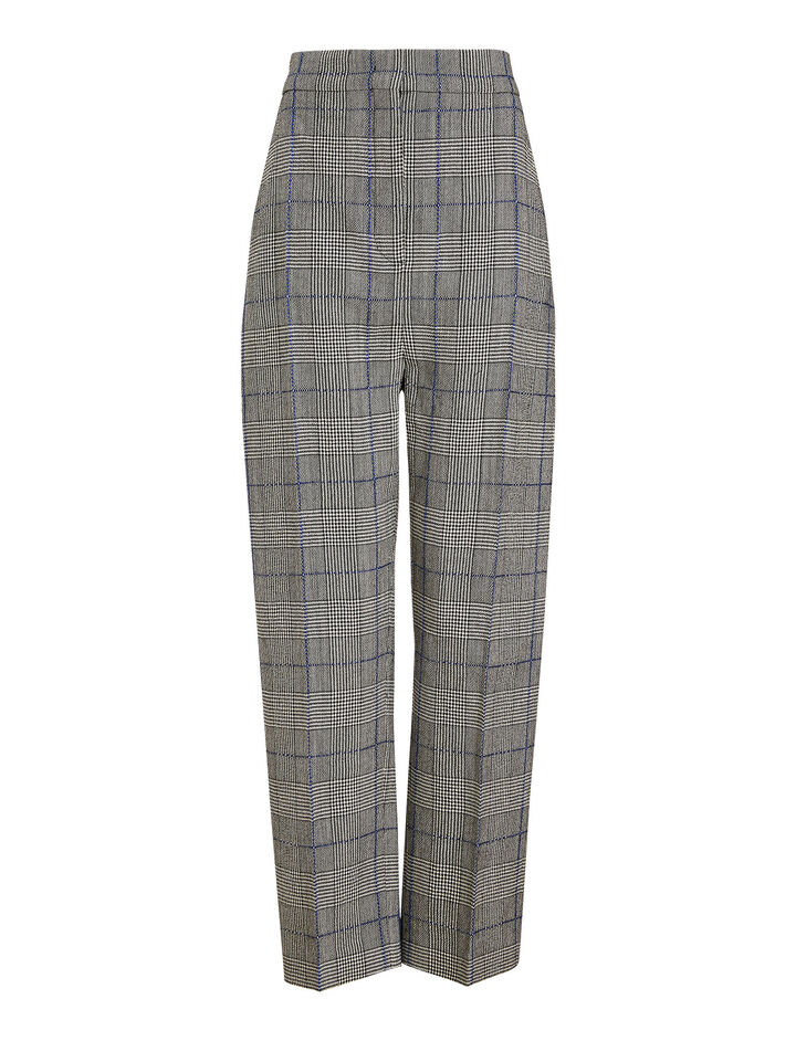 Joseph, Haim Textured Check Trousers, in BLACK