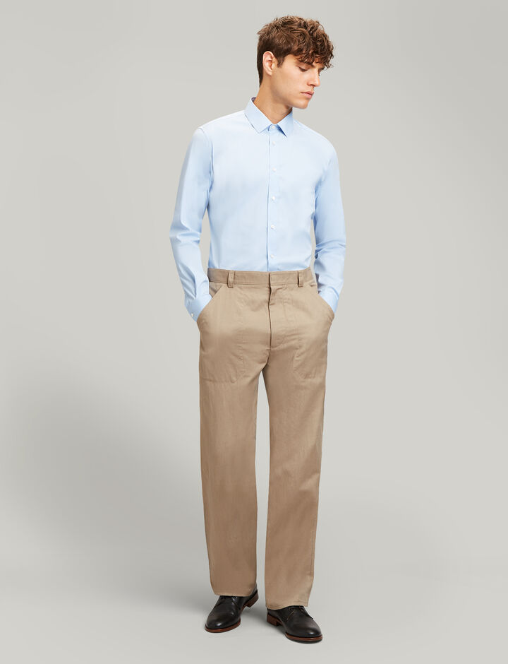 Joseph, Jim Poplin Stretch Shirt, in SKY BLUE