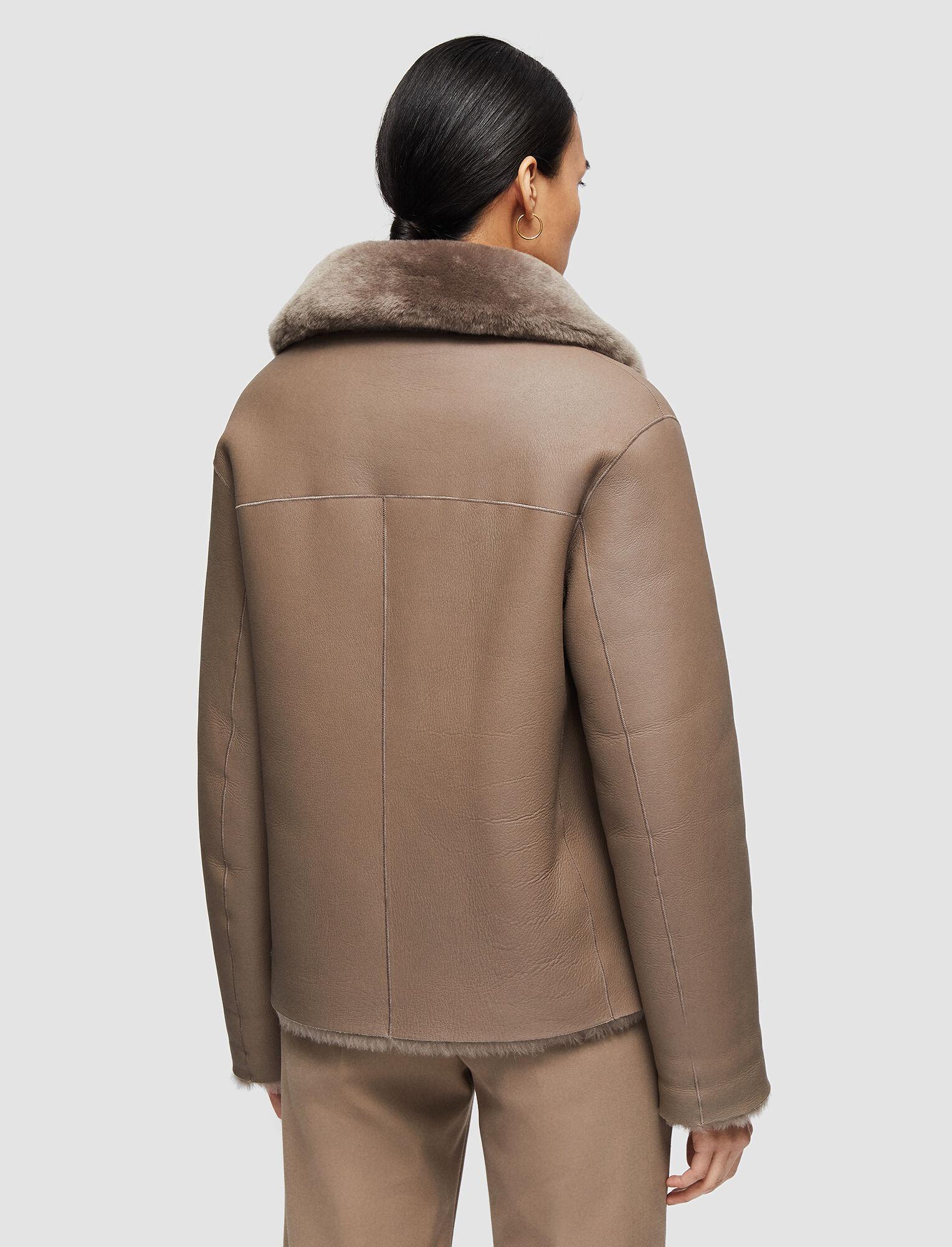 Joseph, Sheepskin Calla Coat, in TAUPE