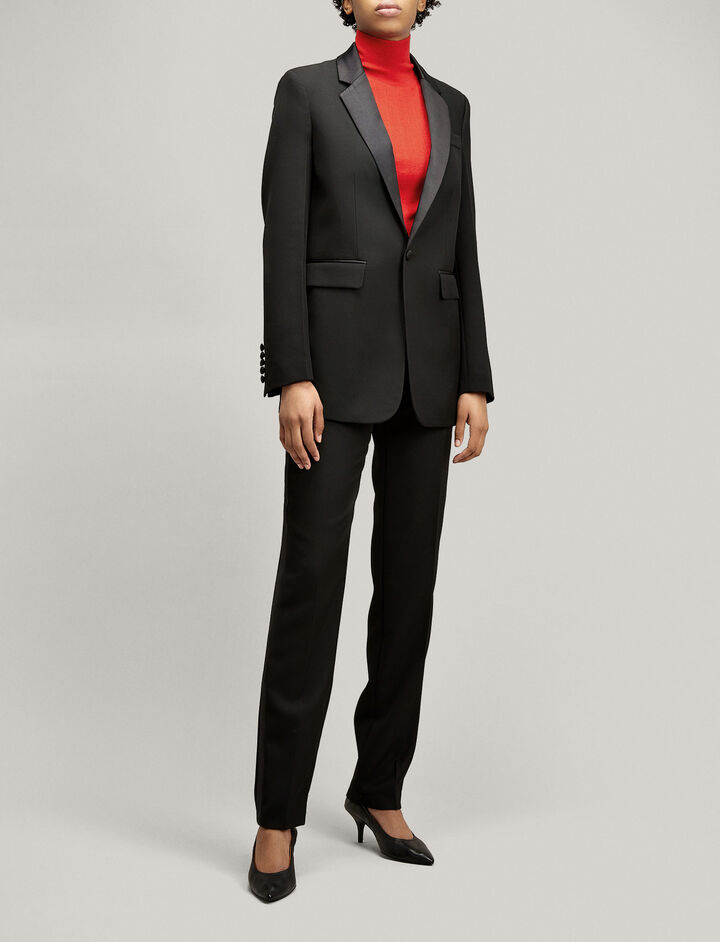 Joseph, Grain de Poudre Jan Tuxedo Jacket, in BLACK