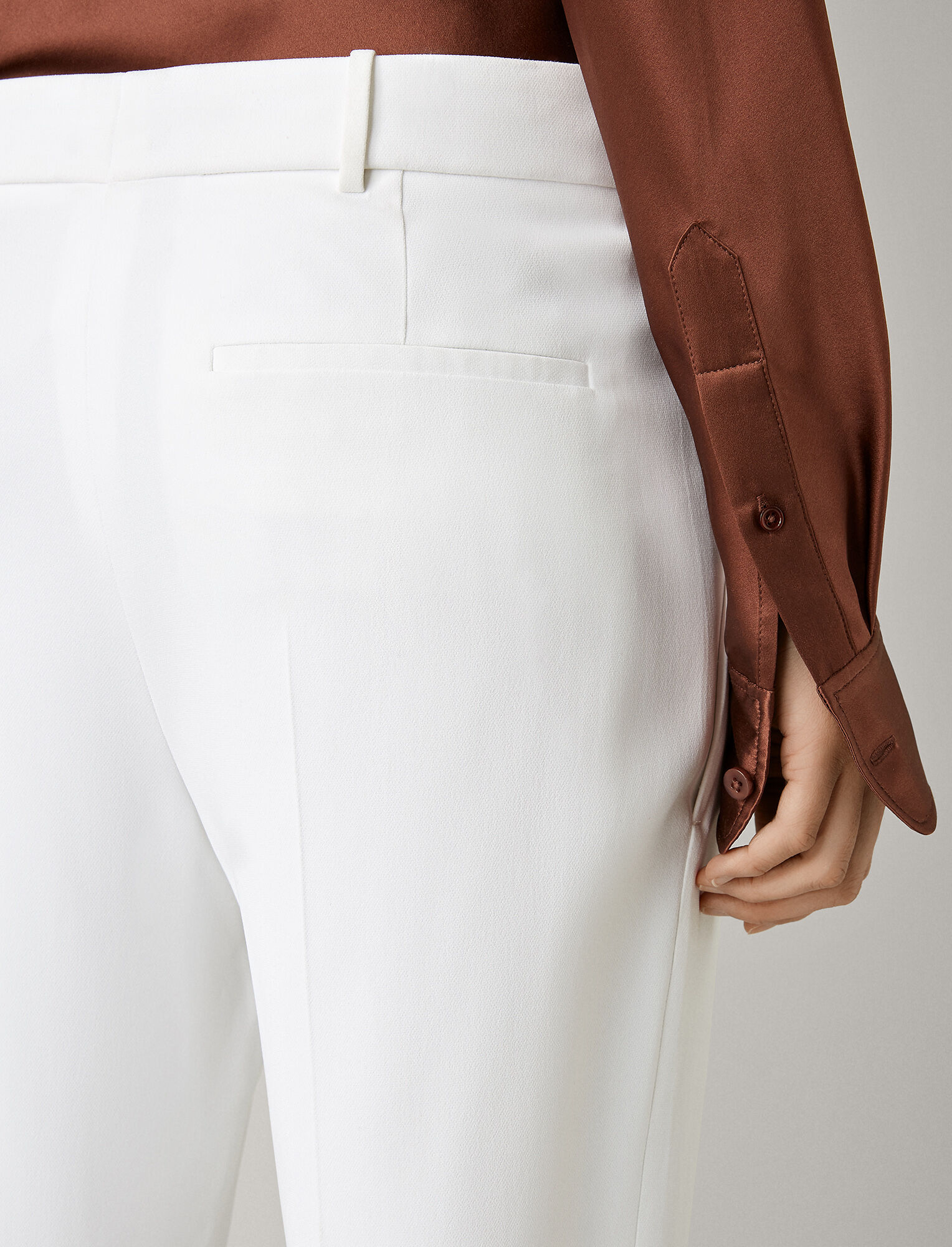 Joseph, Coman Stretch Acetate Viscose Trousers, in WHITE