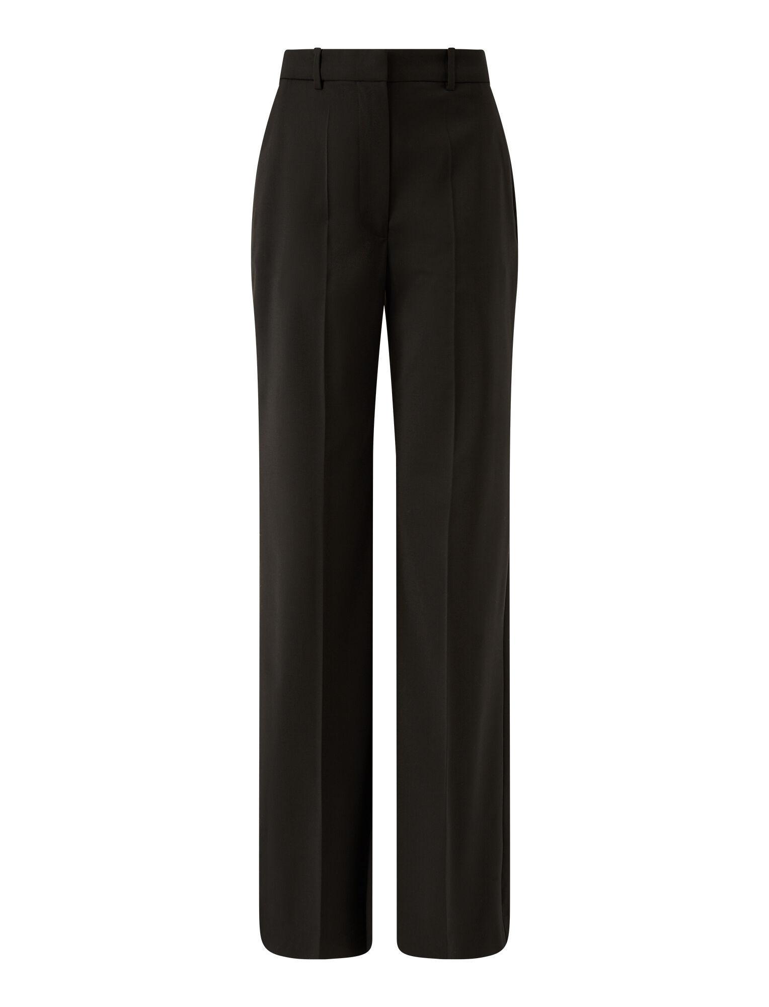 Joseph, Light Wool Suiting Morissey Trousers, in BLACK