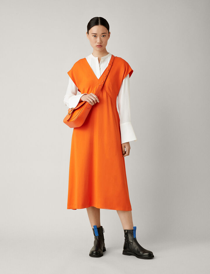 Joseph, Sienna Light Cady Dress, in CARNELIAN