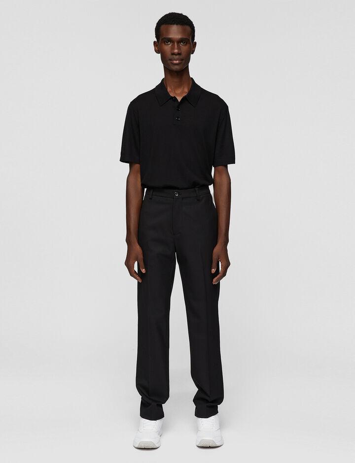 Joseph, Techno Wool Stretch Jack Trousers, in BLACK