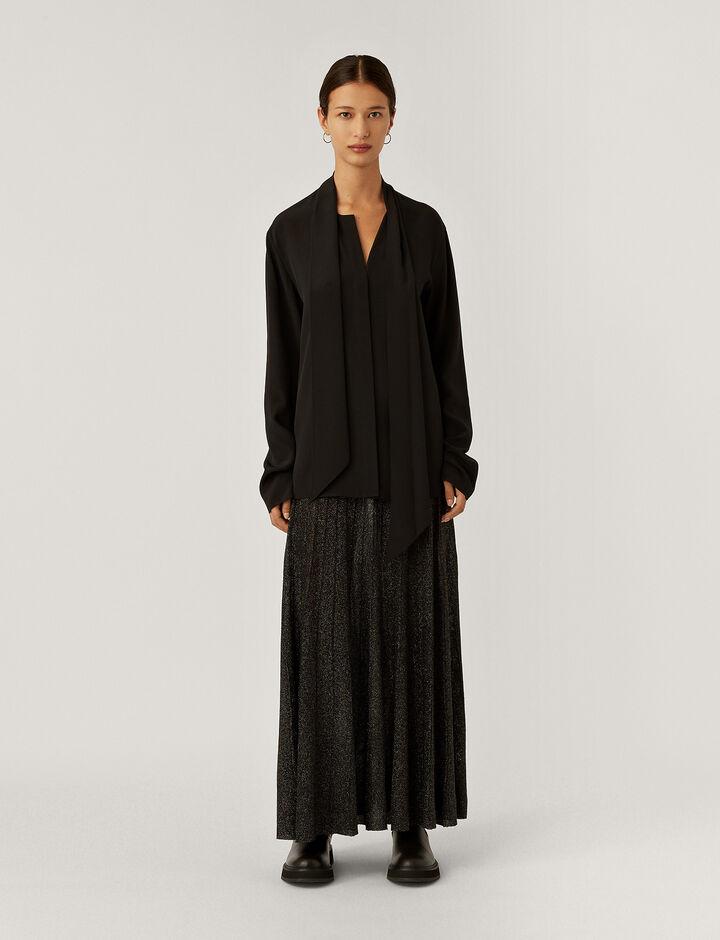 Joseph, Skirt-Lurex, in BLACK