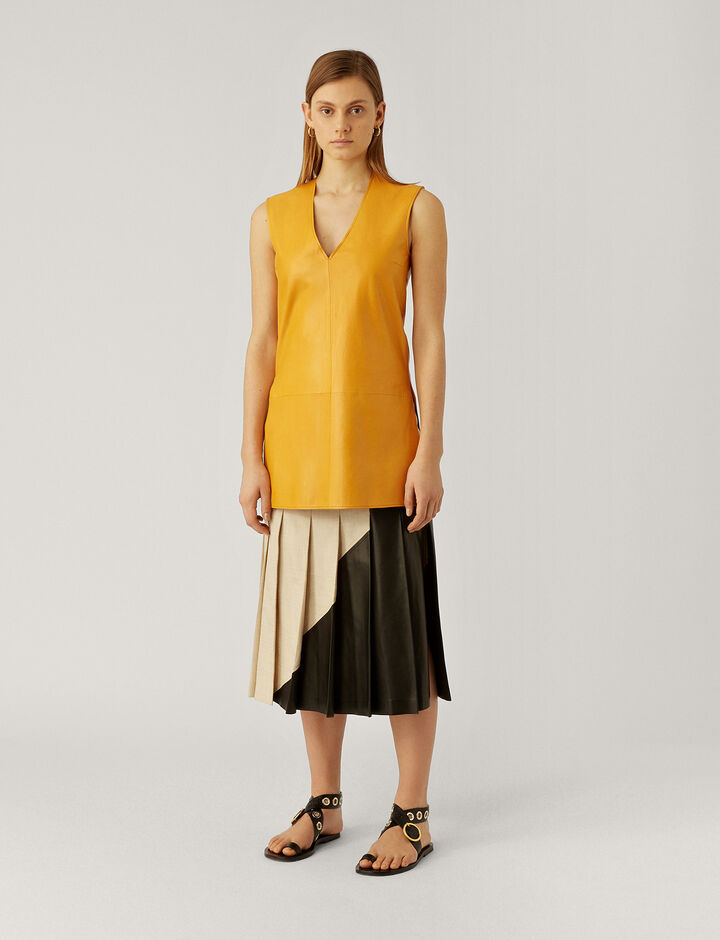 Joseph, Bia Leather Tunic, in POLLEN