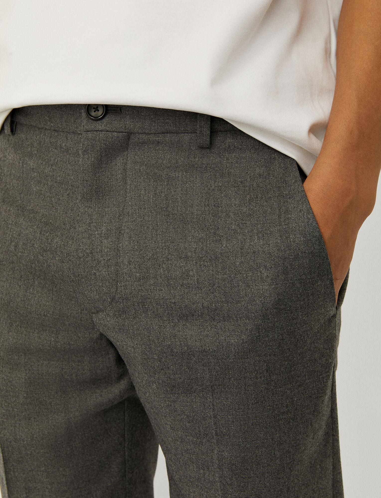 Joseph, Flannel Stretch Jack Trousers, in LIGHT GREY